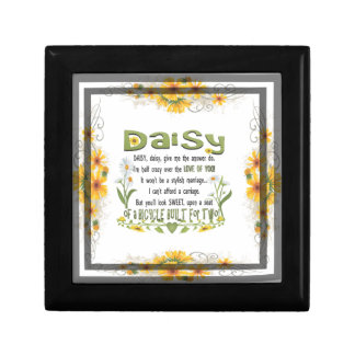 Daisy, daisy give me your answer do. gift box