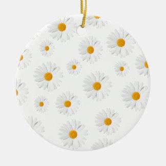 Daisy, daisy - lovely flower design round ceramic decoration