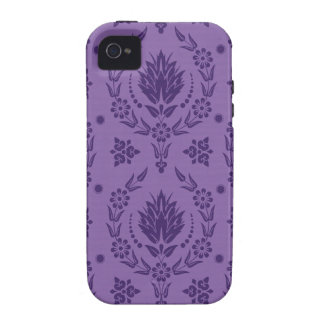 Daisy Damask, Bamboo in Shades of Purple iPhone 4 Cases