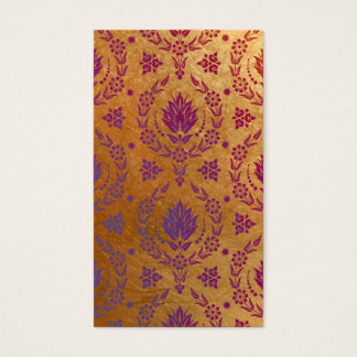 Daisy Damask, Brushed Metal in Rose Gold & Purple