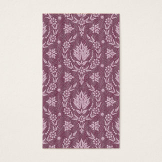 Daisy Damask, Denim in Shades of Plum and White Business Card