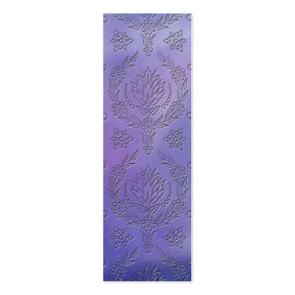 Daisy Damask, EMBOSSED Pack Of Skinny Business Cards
