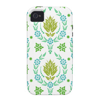 Daisy Damask, Garden Colors in Olive and Teal iPhone 4/4S Cases