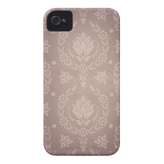Daisy Damask, Ghostly in Taupe and Blush Pink iPhone 4 Case-Mate Cases