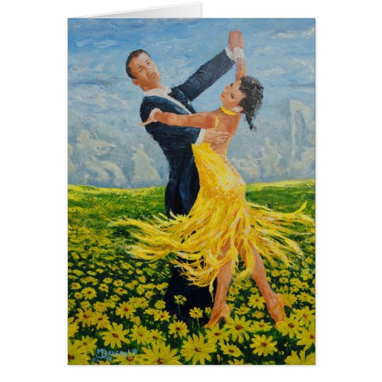 Daisy Dancers greeting card