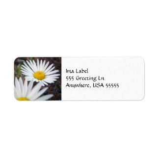 Daisy Day Label Return Address Label