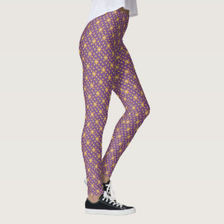 Daisy design floral leggings