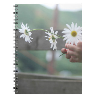 Daisy diary spiral notebook