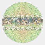 Daisy Dogs Yorkie Puppies Round Stickers