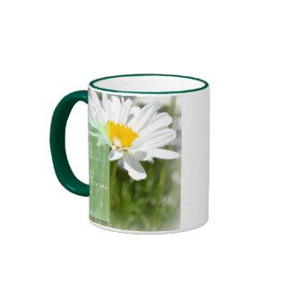 Daisy Dream Poem Coffee Cup Ringer Mug