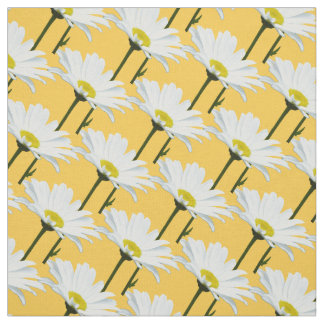 Daisy Fabric Yellow Daisy Fabric Cotton or Poly