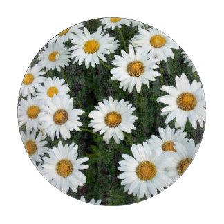 Daisy Field Glass Cutting board