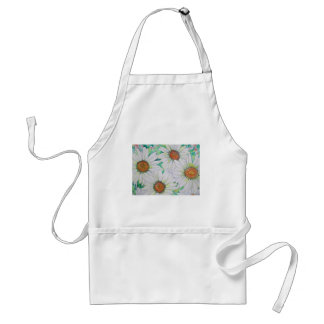 Daisy Field Watercolor Painting Standard Apron