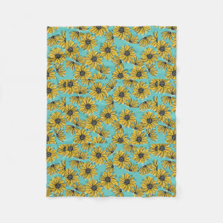 Daisy Fleece Blanket (Small)
