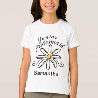 Daisy Floral Jr. Bridesmaid T-Shirt