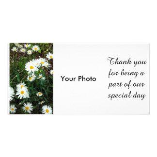 Daisy Floral wedding Theme Photocard Photo Greeting Card