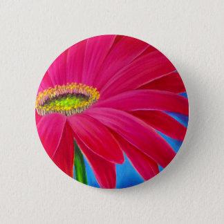 DAISY FLOWER ART - MULTI 6 CM ROUND BADGE