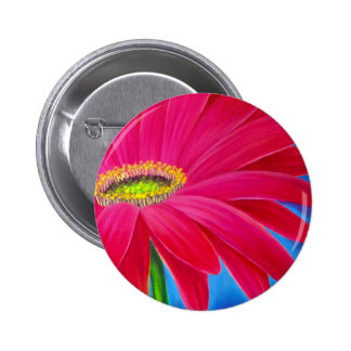 DAISY FLOWER ART - MULTI 6 CM ROUND BADGE