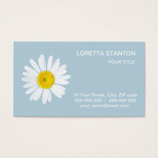 Daisy flower business card