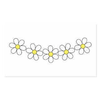 Daisy Flower Bussiness Cards Pack Of Standard Business Cards