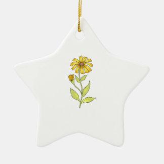 DAISY FLOWER CHRISTMAS ORNAMENT