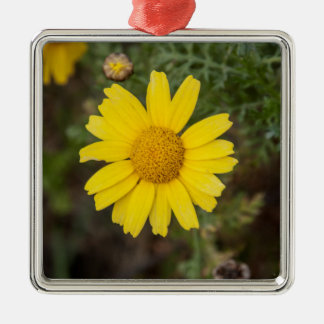 Daisy flower cu yellow christmas ornament
