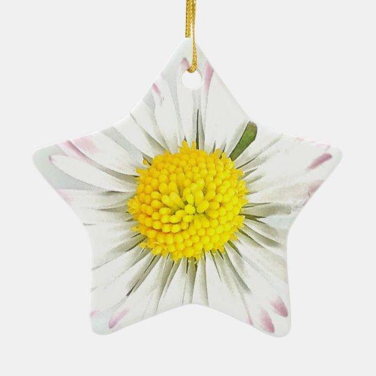 Daisy Flower Dble-Sided Star Ornament