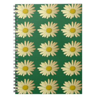 Daisy flower design - meadow with daisies notebook