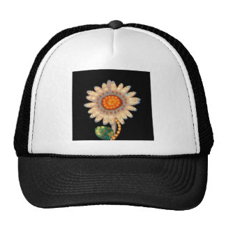 daisy flower flashing lights cap