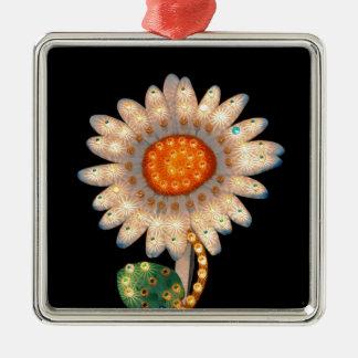 daisy flower flashing lights christmas ornament