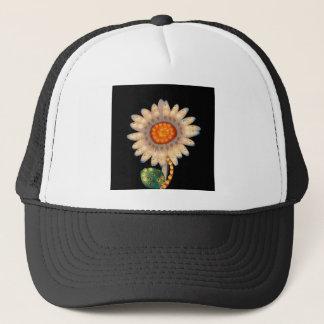 daisy flower flashing lights trucker hat