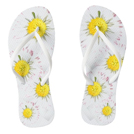 Daisy Flower flip Flops