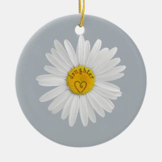 Daisy Flower For Daughter Art Customize Background Christmas Ornament