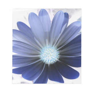 Daisy Flower Glowing Blue Notepad