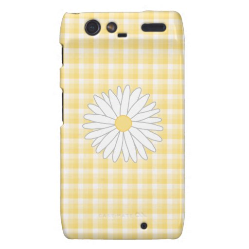 Daisy Flower in Yellow and White. Motorola Droid RAZR Cases