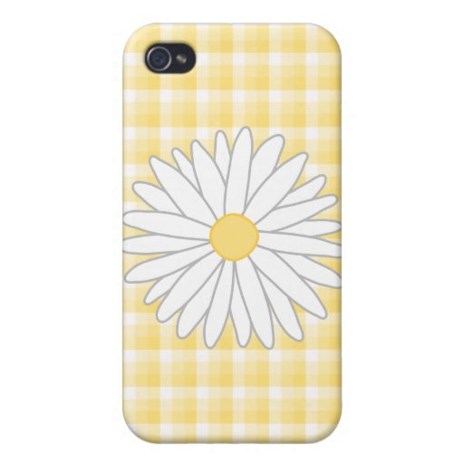 Daisy Flower in Yellow and White. iPhone 4 Cases