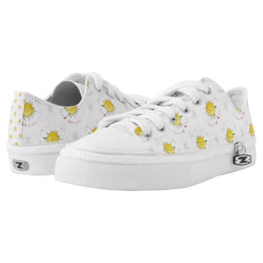 Daisy Flower Low Tops