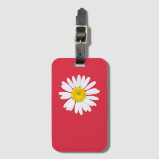 Daisy flower luggage tag