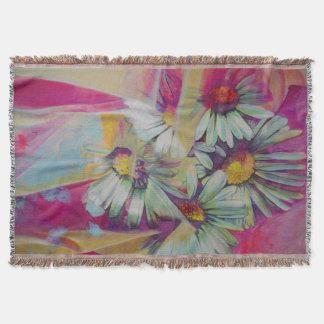 Daisy Flower Painting Throw Blanket
