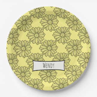 Daisy Flower Paper Plate
