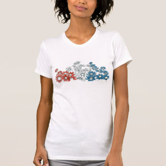 Daisy Flower Patriotic 4th of July Red White Blue T Shirts