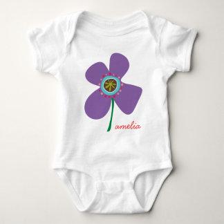 Daisy Flower Pop Fun Summer Daisies Whimsical Cute Baby Bodysuit