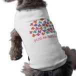 Daisy Flower Pop Fun Summer Daisies Whimsical Cute Sleeveless Dog Shirt