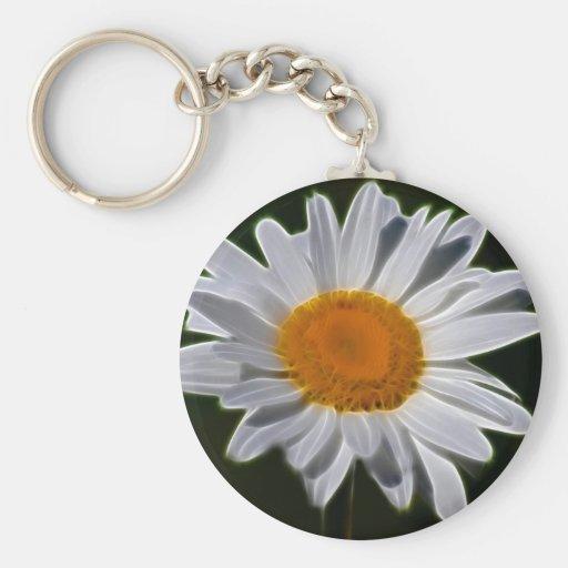 Daisy flower power key chain