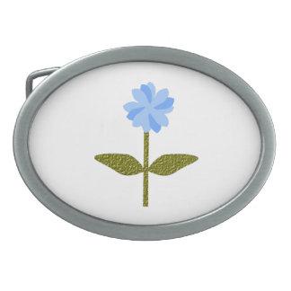Daisy Flower Pretty Blue Belt Buckle