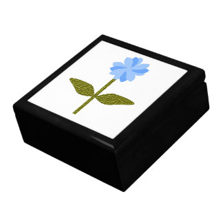 Daisy Flower Pretty Blue Gift Box