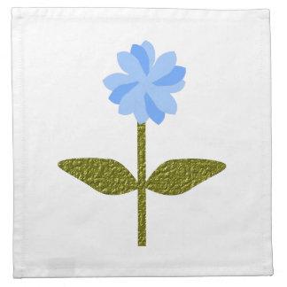 Daisy Flower Pretty Blue Napkin