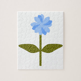 Daisy Flower Pretty Blue Puzzle