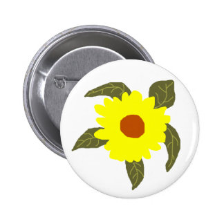 Daisy flower sea turtle button