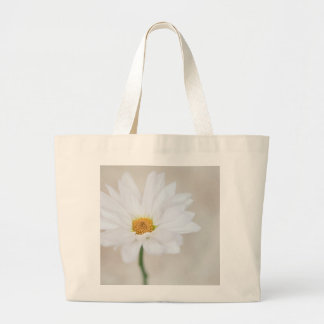 Daisy Flower White Yellow Daisies Blossom Floral Jumbo Tote Bag